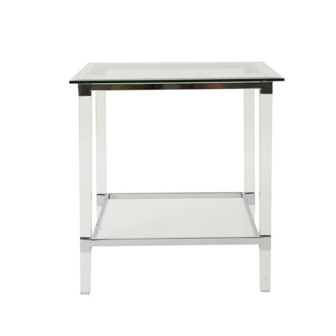 Orianna Square Side Table Clear - Christopher Knight Home - image 1 of 4