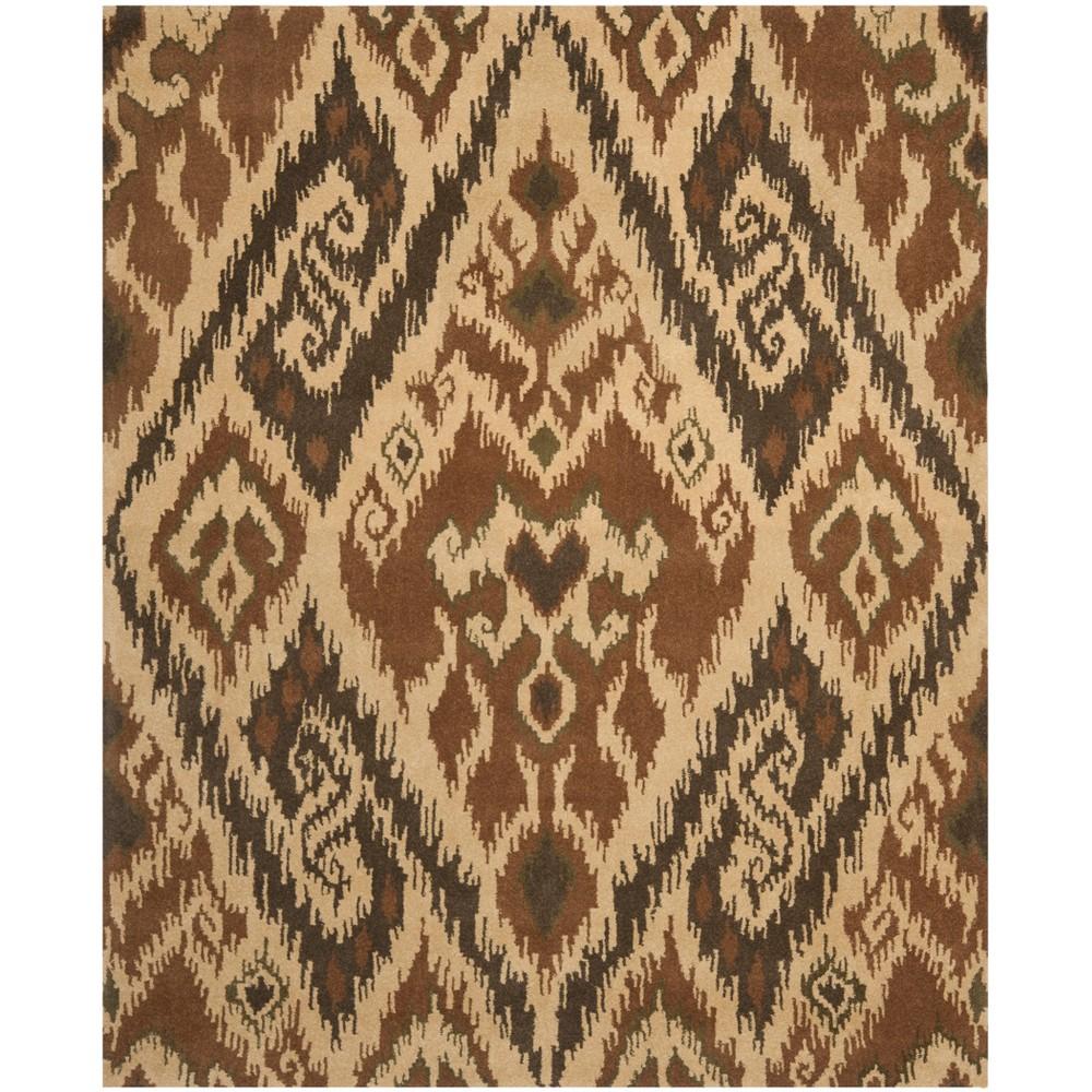 8'X10' Tufted Tribal Design Area Rug - Safavieh, Multi-Colored/Brown
