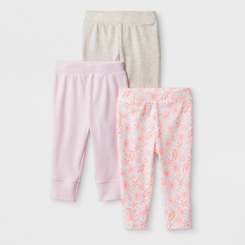 085a395d0aabb Baby Girls' 3pk Blooms & Sprouts Pants - Cloud Island™ Pink : Target