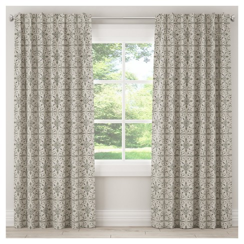 Unlined Paris Tile Curtain Panel - Skyline Furniture® - image 1 of 5