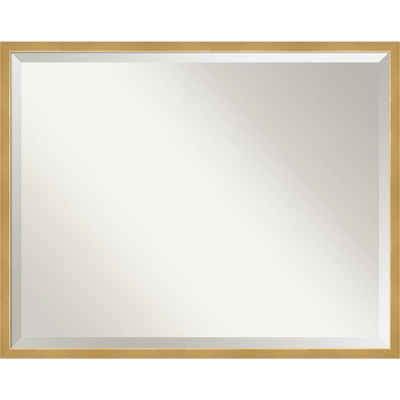 Polished Brass Framed Bathroom Vanity Wall Mirror Gold - Amanti Art