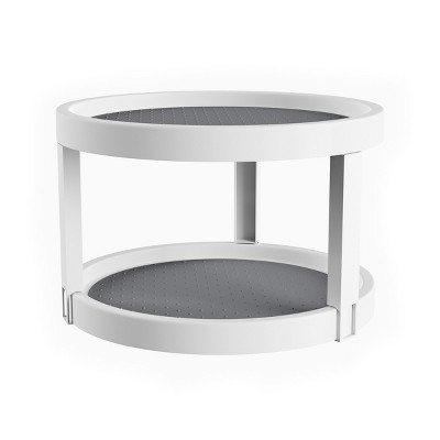 """Hastings Home 9.75"""" 2-Tier Lazy Susan for Kitchens or Vanities"""