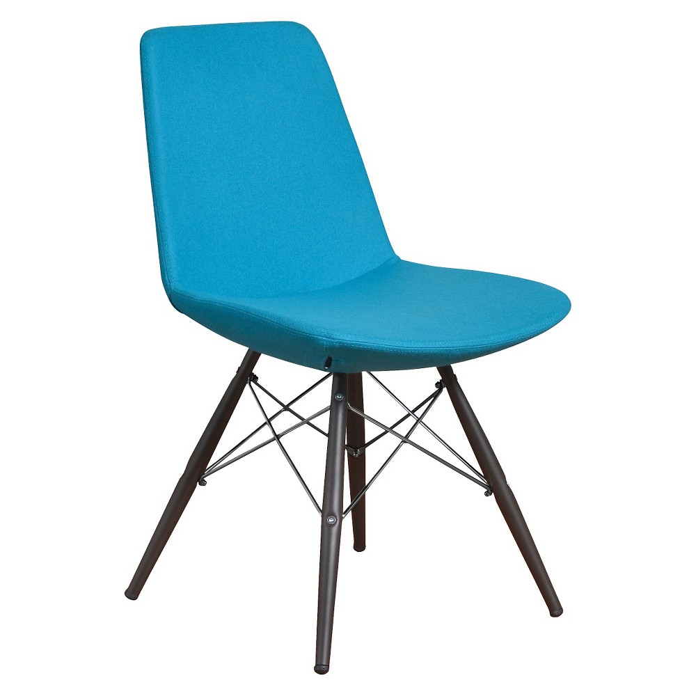 Paris Dining Chair Molded Foam (Set of 2) -Turquoise, Turquoise