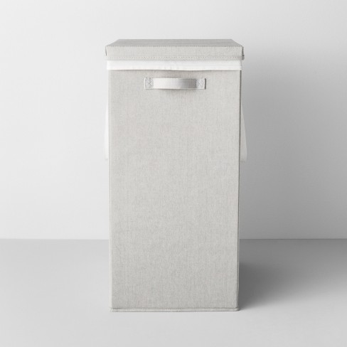 Collapsible Hamper With Laundry Bag Light Gray  - Made By Design™ - image 1 of 4
