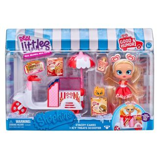 Shopkins Real Littles Stacey Cakes Doll and Icy Treats Scooter