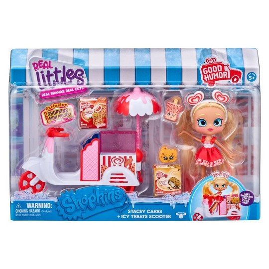 Shopkins Real Littles Stacey Cakes Doll and Icy Treats Scooter image number null