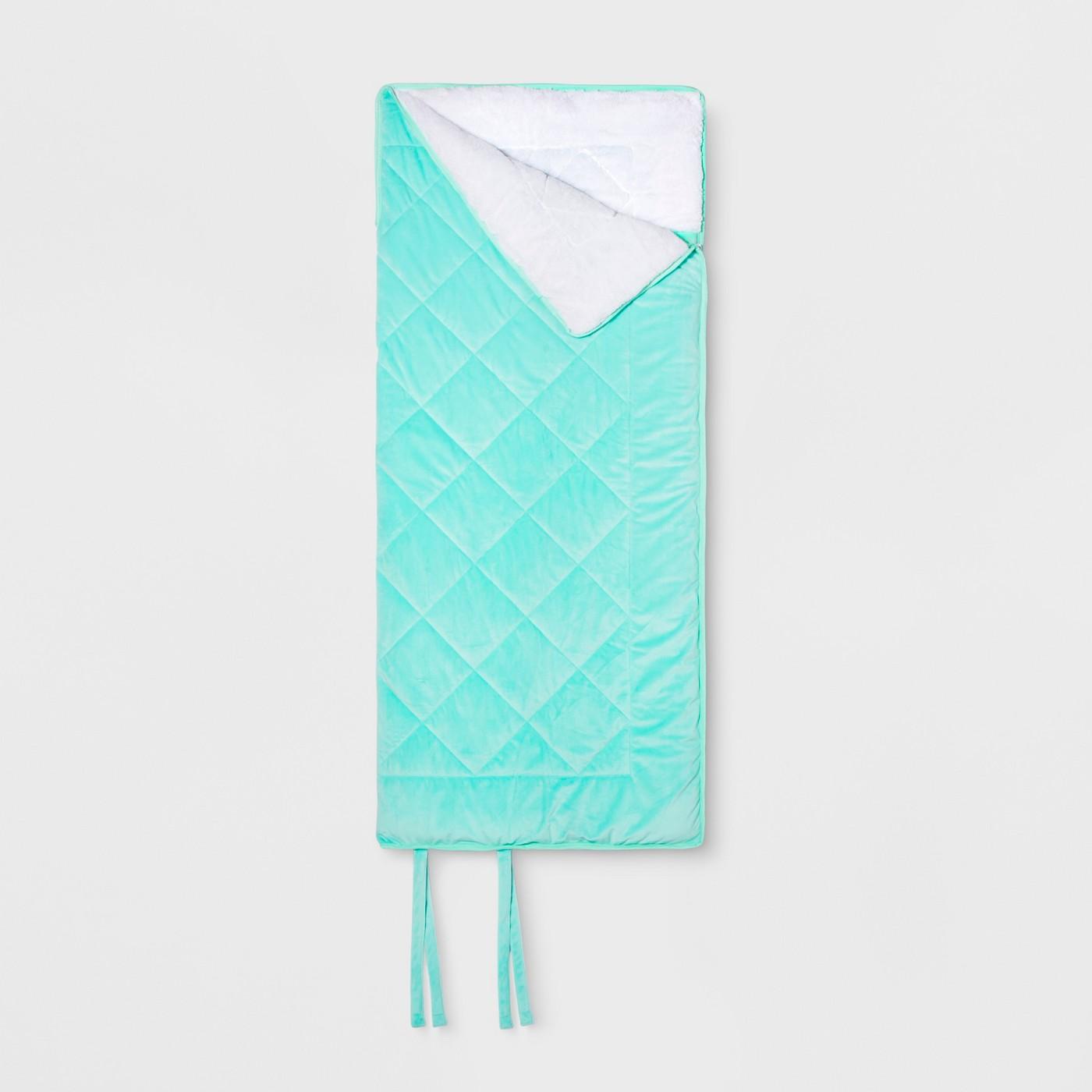 "Faux Velvet Sleeping Bag Pink - Pillowfortâ""¢ - image 1 of 1"