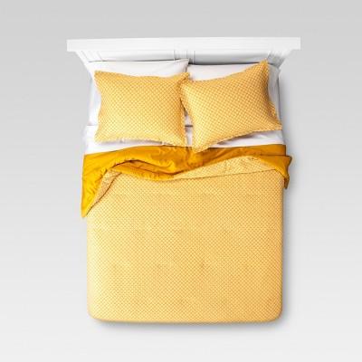 Yellow Mini Floral Comforter Set (King)3pc - Threshold™
