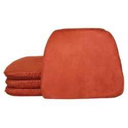 Faux Suede Chairpad (4 Pack)