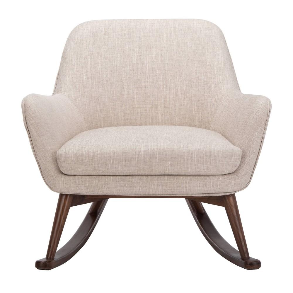 Mack Mid Century Rocking Chair Oatmeal Safavieh