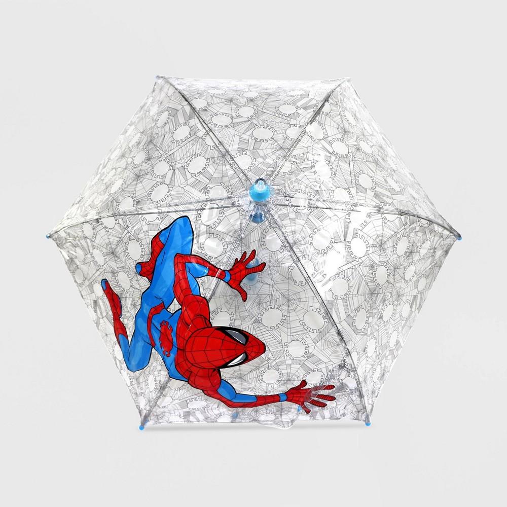 Boys 39 Marvel Spider Man Stick Umbrella White Disney Store