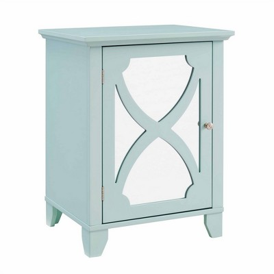 Winter Seafoam Small Cabinet with Mirror Door Green - Linon