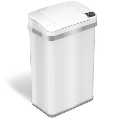halo quality 4gal Multifunction Sensor Trash Can White