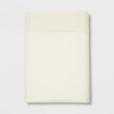 Queen 300 Thread Count Ultra Soft Flat Sheet Cream - Threshold™
