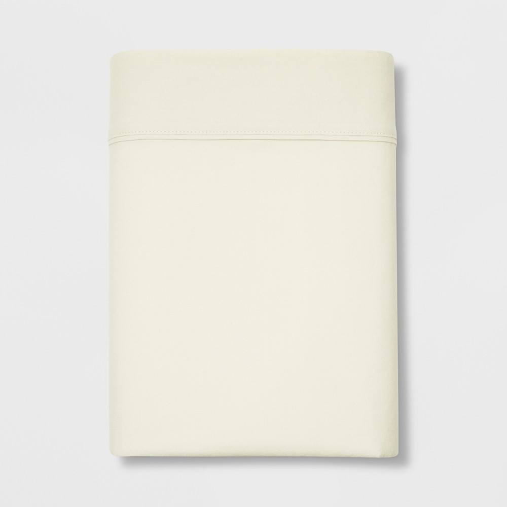 Image of Full 300 Thread Count Ultra Soft Flat Sheet Cream - Threshold , Ivory
