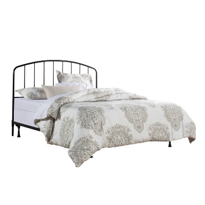 Tolland Metal Headboard with Bed Frame Black - Hillsdale Furniture