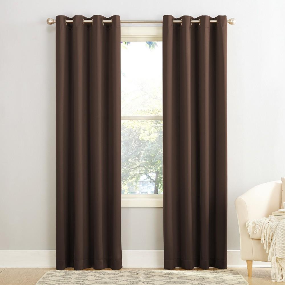 Seymour Energy Efficient Grommet Curtain Panel Chocolate (Brown) 54