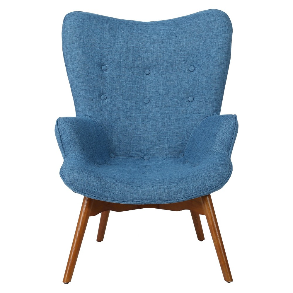 Hariata Fabric Contour Chair - Christopher Knight Home, Blue