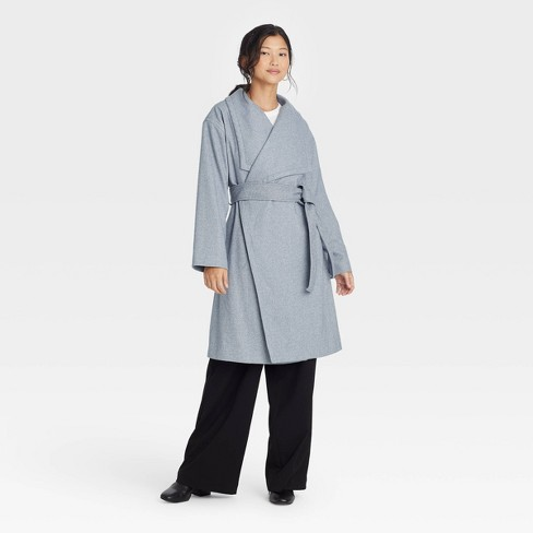 Women's Knit Wrap Coat - A New Day™ - image 1 of 3