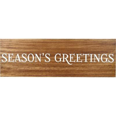24.4 X8.4  Season's Greetings Wood Word Wall Decor Walnut - Threshold™