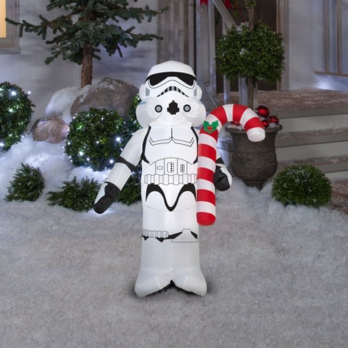 star wars holiday inflatable decoration stormtrooper holding candy cane target - Star Wars Blow Up Christmas Decorations