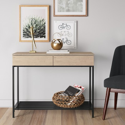 loring console table vintage oak project 62 target rh target com vintage furniture table vintage lane sofa table