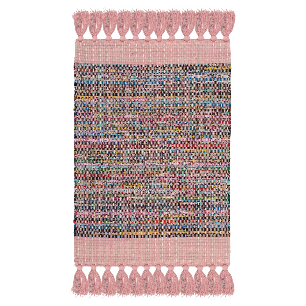 Solid Woven Area Rug 5'X8' - Safavieh, Pink/Multi-Colored