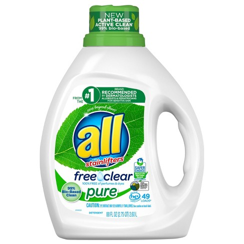 All Free Clear Pure Liquid Laundry Detergent 49 Loads - 88 fl oz - image 1 of 3
