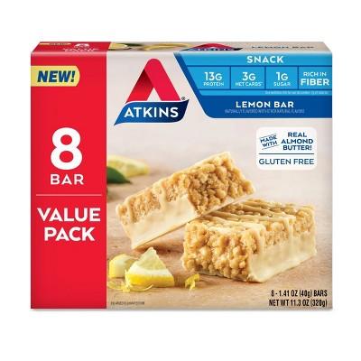 Atkins Lemon Snack Bars - 8ct