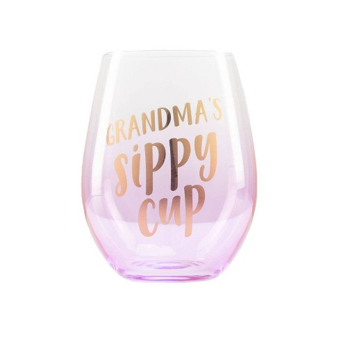 Pearhead Grandma's Sippy Cup Wine Glass - image 1 of 4