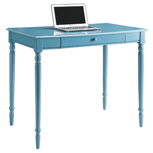 French Country 36 Desk Blue Convenience Concepts Target