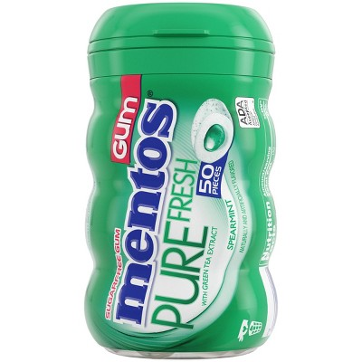 Mentos Pure Fresh Spearmint Sugar-Free Gum - 50ct