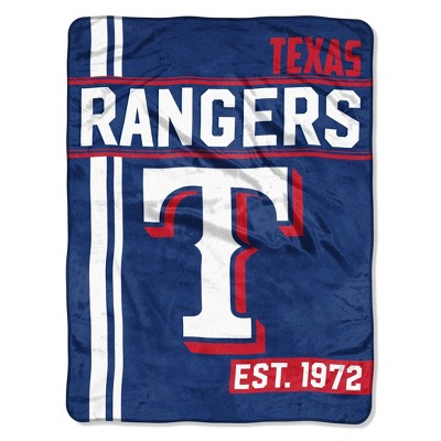 MLB Texas Rangers Micro Fleece Throw Blanket