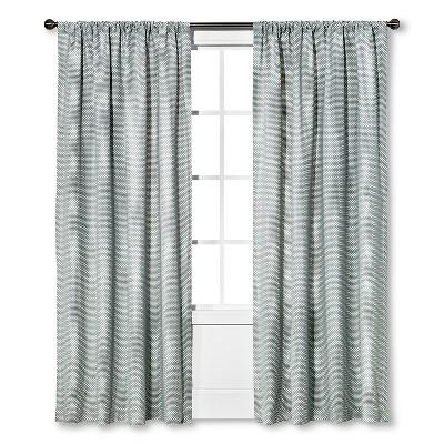 Woven Curtain Panel Gray (54 x84 )- Nate Berkus™