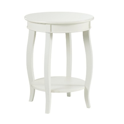 Lindsay Round Table with Shelf White - Powell Company