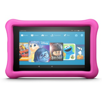"""Amazon Fire 7 Kids Edition (7"""" Display Tablet) Pink Kid-Proof Case - 16GB"""