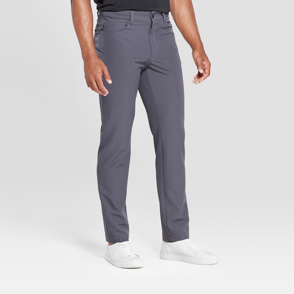 Mpg Sport Men's Slim Fit Stretch Woven Pants - Asphalt Grey 36x32