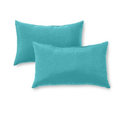 2pk Outdoor Throw Pillows Teal - Kensington Garden