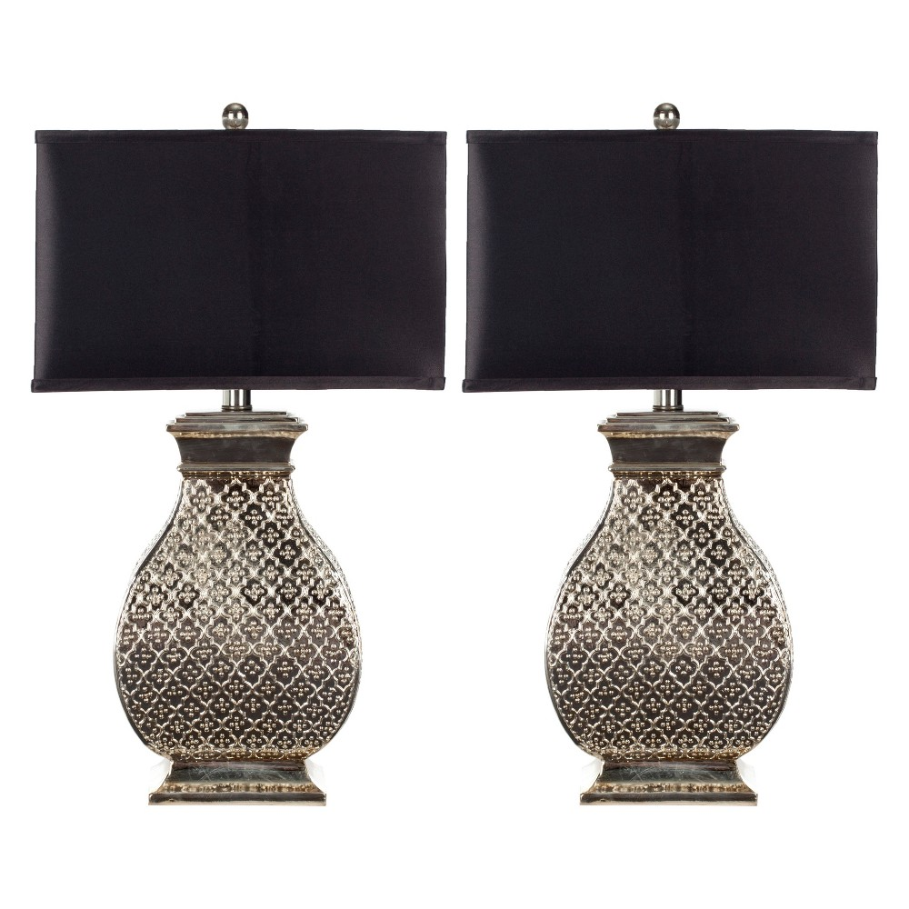 Table Lamp - Silver/Black - Safavieh, Beige/Black