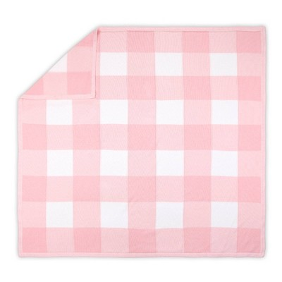 The Peanutshell Farmhouse Check Blanket - Pink