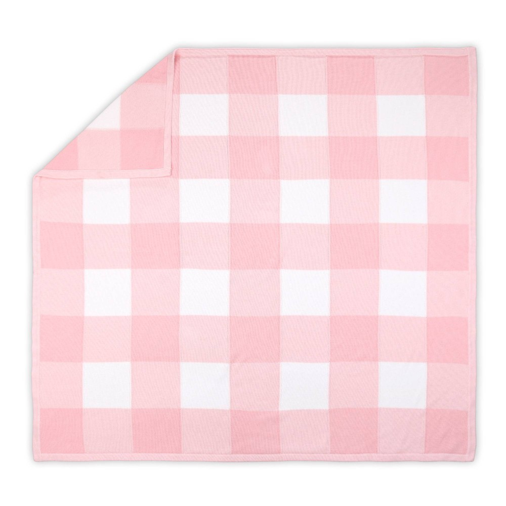 Image of Farmhouse Check Blanket by The Peanutshell Pink