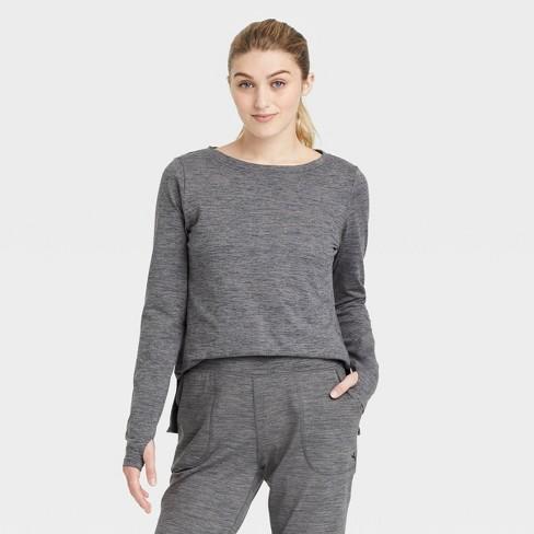 Women's Cozy Spacedye Long Sleeve Top - JoyLab™ - image 1 of 2
