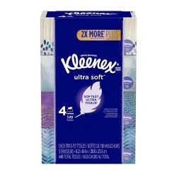 Kleenex Ultra Soft Facial Tissue - 4pk/110ct