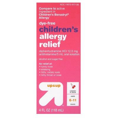 Children's Diphenhydramine HCI Allergy Relief Liquid - Cherry - 4 fl oz - Up&Up™ (Compare to active ingredient in Children's Benadryl Allergy)