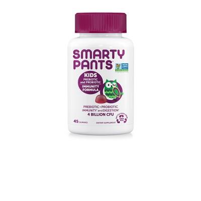 SmartyPants Kids Prebiotic and Probiotic Immunity Formula Gummies - Grape - 45ct
