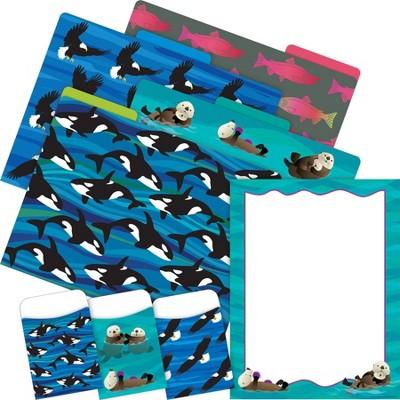 File Folders Organizer Set On-Trend 92 per Set Sea & Sky Otters - Barker Creek