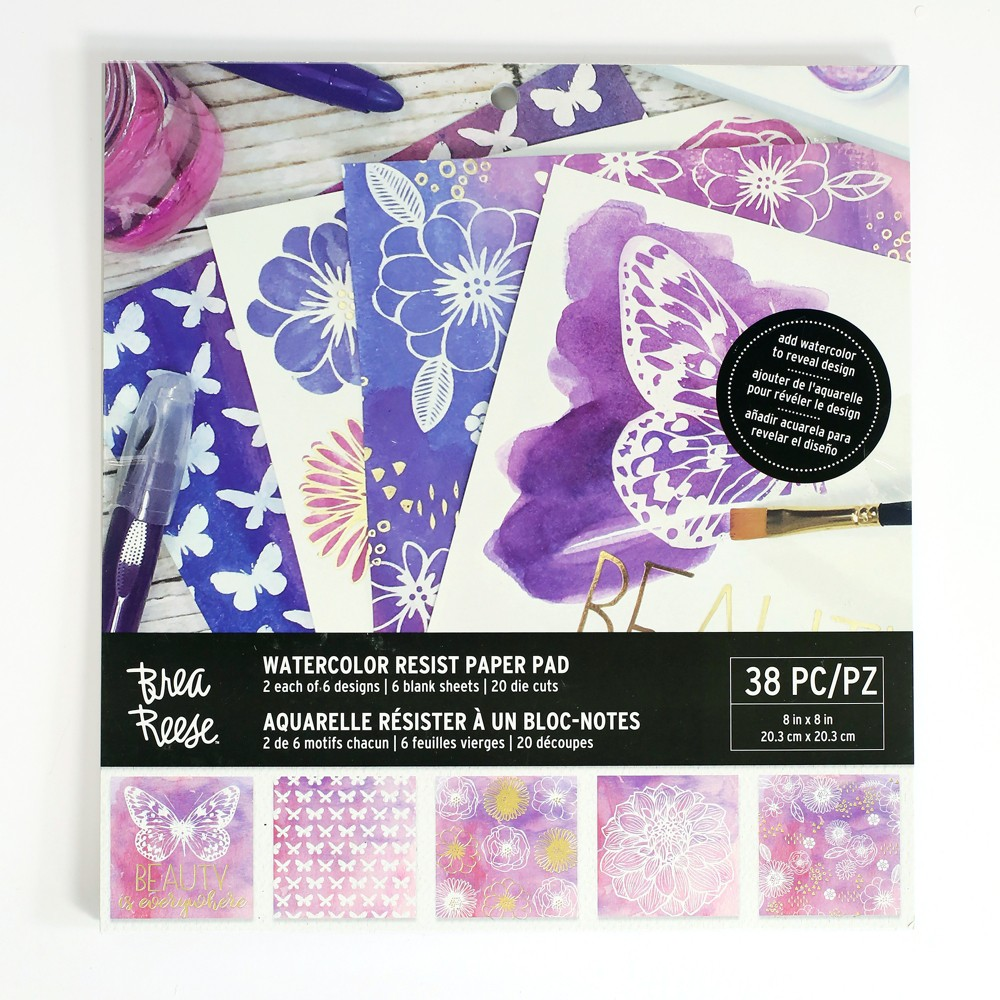 Image of Brea Reese 38pc Watercolor Resist Paper Pad