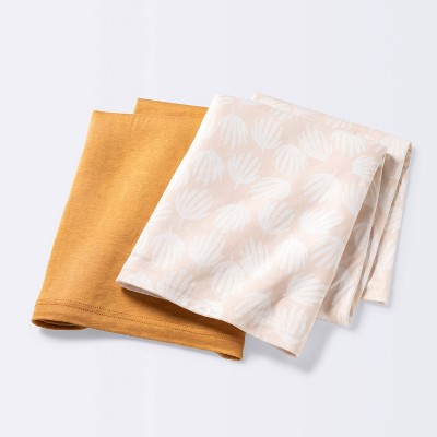 Jersey Swaddle Blanket - Cloud Island™ Tan/Bronze Fronds 2pk
