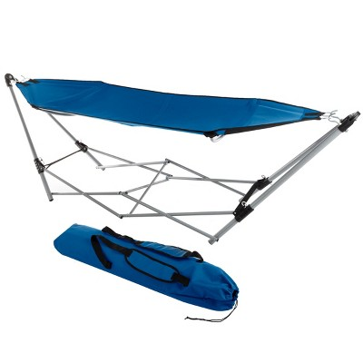 Hastings Home Portable Hammock with Stand, Blue