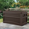 Suncast Outdoor 73 Gallon Garden Patio Storage Chest with Handles and Seat, Java - image 3 of 3